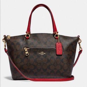 Coach Signature Prarie Bag in True Red